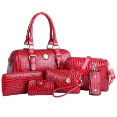 34.80$  Buy here - https://alitems.com/g/1e8d114494b01f4c715516525dc3e8/?i=5&ulp=https%3A%2F%2Fwww.aliexpress.com%2Fitem%2F2016-elegant-design-women-messenger-bags-female-leather-handbags-purse-6-sets-women-bag-shoulder-bag%2F32495549459.html - 2017 elegant design women messenger bags female leather handbags purse 6 sets women bag shoulder bag bolsas C40-119