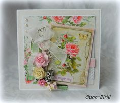 Gunn-Eirill`s Paper Magic: Flower card with Lemoncraft papers