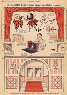 Salaludica imagery since 1958 Vintage Paper Crafts, Matchbox Crafts, Toy Theatre, Diy Cardboard, Old Paper, Paper Models, Doll Crafts, Paper Toys, Free Paper