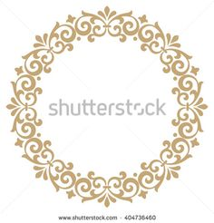 Decorative line art frames for design template. Elegant vector element for design in Eastern style, place for text. Lace illustration for invitations and greeting cards Stencil Patterns, Stencil Designs, Pattern Art, Floral Motif, Floral Border, Stencils, Clock Painting, Decorative Lines, Anna Griffin Cards
