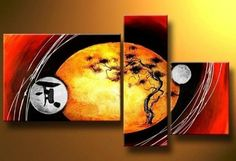 3 Pics Tree of Life Abstract Modern Art 100% Hand Painted Oil Painting on Canvas Wall Art Deco Home Decoration (Unstretch No Frame) by galleryworldwide, http://www.amazon.com/dp/B0094XBRQ0/ref=cm_sw_r_pi_dp_MHdUrb09M6MCZ
