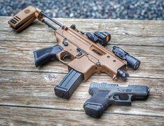 Which one has a longer barrel? Submachine Gun, Surefire, Wise Men, Airsoft Guns, Tactical Gear, Arsenal, Firearms, Hand Guns, Barrel