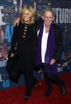 Pin for Later: Anyone Who's Anyone Was at the SNL Anniversary Celebration Keith Richards and Patti Hansen Patti Hansen, Keith Richards, Saturday Night Live, Stone World, London Film Festival, Star Wars, Mick Jagger, 40th Anniversary, Bon Jovi