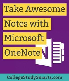 One of the most important ways to take awesome notes is to create one central place to keep everything. OneNote is a fantastic free tool that you can use across all of your devices to organize your notes. One Note Microsoft, Microsoft Surface Book, Microsoft Office, Microsoft Classroom, Microsoft Paint, Microsoft Excel, Microsoft Windows, One Note Tips, Note Taking Tips