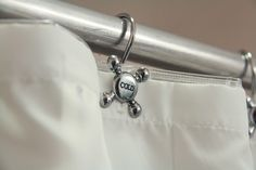 Pack of 12 Vintage Hot Cold Water Faucet Shower Curtain Rings, Silver