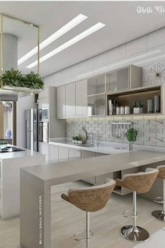 Kitchen Trends 2019 – 30 Best Amazing Kitchen Design Trends And Ideas – Page 23 of 30 – eeasyknitting. com Kitchen Trends 2019 – 30 Best Amazing Kitchen Design Trends And Ideas – Page. Kitchen Room Design, Best Kitchen Designs, Home Decor Kitchen, Kitchen Layout, Interior Design Kitchen, Kitchen Furniture, New Kitchen, Kitchen Ideas, Kitchen Inspiration