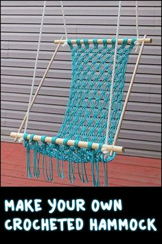 Do you want a relaxing hammock in your outdoor area? Gather up some cords and learn how to make your own hammock!