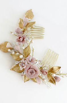 Lorena | Bridal Headpiece, Bridal Comb, Floral Headpiece, Jonida Ripani
