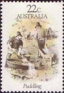 Sello: Puddling (Australia) (Gold Rush) Mi:AU 751,Sn:AU 781,Yt:AU 736,Sg:AU 775