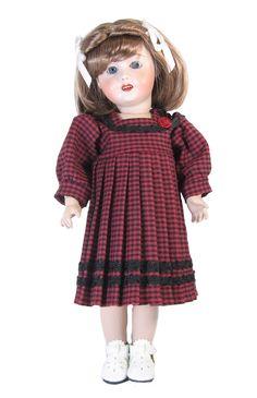 Moss Green School Dress for Bleuette Doll