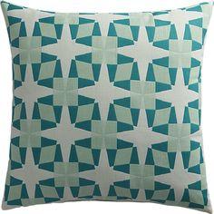 "moravian star 20"" outdoor pillow  | CB2"
