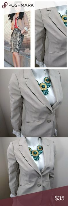 """The Limited Tan Blazer Fab color..wardrobe staple..in excellent condition... Lined and slightly padded shoulders Length """"23.5"""" Armpit to armpit """"17"""" Appx. Shoulder to shoulder """"14"""" Sleeve length """"23.5"""" The Limited Jackets & Coats Blazers"""