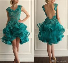 Cheap short green homecoming dress, Buy Quality lace homecoming dress directly from China green homecoming dress Suppliers: Exquisite Ruffled Short Green Homecoming Dresses Beaded Lace Homecoming Dress Fashion Prom Gowns Sexy Graduation Dresses Green Homecoming Dresses, Prom Dresses 2015, Backless Prom Dresses, Modest Dresses, Bridal Dresses, Evening Dresses, Graduation Dresses, Prom Gowns, Formal Gowns