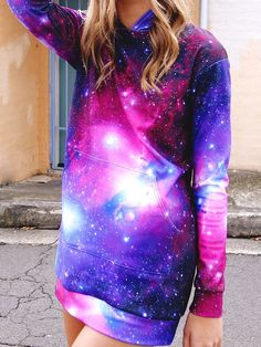 Galaxy Purple Slouchy by Black Milk Clothing XXS Purple Outfits, Pretty Outfits, Dress Outfits, Cool Outfits, Fashion Outfits, Womens Fashion, Dresses, Galaxy Outfit, Galaxy Hoodie