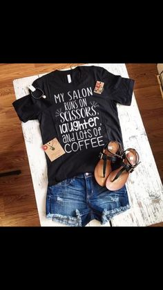 When you surprise me with chickens in gonna need this shirt 🤗 Hair Stylist Shirts, Spa, Salon Business, Shirt Hair, Salon Style, Hair Studio, Salon Design, Personalized T Shirts, Casual Elegance