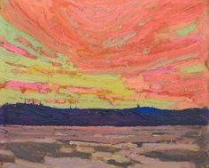 Tom Thomson - Sunset, 1915 ☀