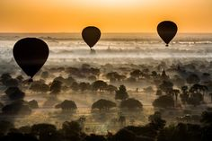Sunrise at old Bagan | Discovered from Dream Afar New Tab