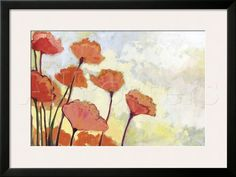 Poppies in Cream Framed Giclee Print by Jennifer Lommers at AllPosters.com. wood mounted 36×24 $232