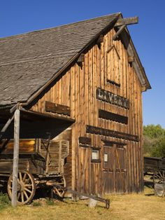 Nevada City Ghost Town Museum, Bozeman Region, Montana, United States of America, North AmericaBy Richard Cummins - North America Farm Barn, Old Farm, Country Barns, Country Life, Country Living, Country Roads, Barn Pictures, Storm Pictures, Into The West
