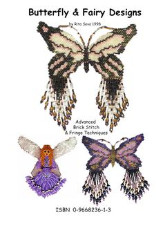 Currently 50% off SALE! Butterfly & Fairy Designs e-Book by Rita Sova at Bead-Patterns.com