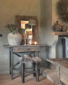 🌟Tante S!fr@ loves this📌🌟- Home Living Room, Living Room Decor, Image Deco, Modern Mountain Home, Sober Living, Modern Cottage, Entryway Furniture, Paint Colors For Living Room, Rustic Interiors