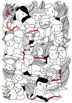 Amaia Arrazola blog: La leyenda del hilo rojo. Dicen algunas creencias en Asia, que los dioses atan un cordón rojo alrededor del tobillo de las personas que han de conocerse. El hilo se puede contraer o estirar pero nunca romperse.