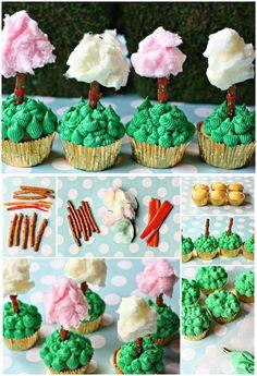 Party ● Recipe ● Truffula Tree Cupcakes for Dr. Seuss Birthday!
