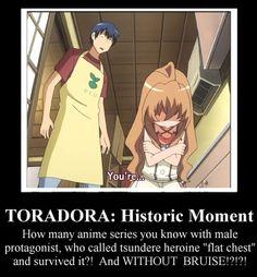 Propably I started to like making demotivators for anime. I love anime Toradora and tsundere characters. That scene for long time disturbe me. Tsundere, Anime Manga, Anime Art, Anime Qoutes, Nisekoi, Image Manga, A Silent Voice, Kaichou Wa Maid Sama, Birthday Scenario Game