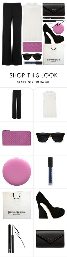 """in style"" by foundlostme ❤ liked on Polyvore featuring Helmut Lang, Bottega Veneta, ZeroUV, JINsoon, Le Métier de Beauté, Yves Saint Laurent, Charlotte Olympia, Forever 21, Balenciaga and shopping"