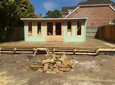 The decking taking shape