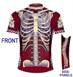 Primal Wear Bone Collector Skeleton Cycling Jersey Mens Short Sleeve