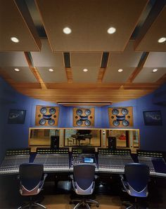 Allaire Studios by WSDG - tall ceilings with acoustic treatment