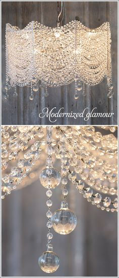 The new look of crystal chandeliers - Modernized glamour