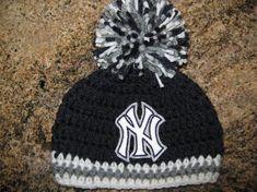 LOGO BORDADO! Gorro sombrero del bebé (colores de los Yankees de Nueva York) 93a1d8a1485