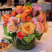 Some of my favorite colors in one centerpiece