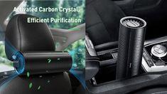 Baseus New Car Air Purifier Ionizer Negative Ion Car Air Freshener Activ...