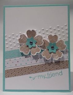Stampin Up Fresh Prints Flower Shop Card