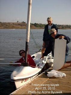 Triton sailing kayak, April 23, 2010