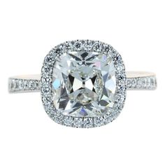 Engagement Rings Styles For Cushion Cut Diamond 3