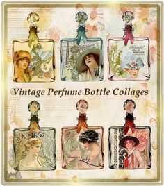 Your place to buy and sell all things handmade Pond Crafts, Perfume Storage, Paper Bag Album, Romance, Altered Bottles, Vintage Perfume Bottles, Vintage Vanity, Bottles And Jars, Vintage Photographs