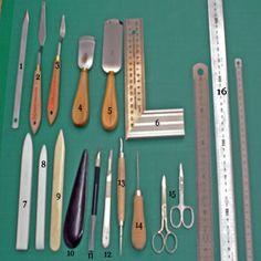 Encuadernación artesanal-materiales