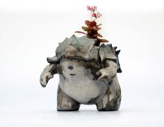 Samurai Creature Pot Planter by #TheRoyalCreature #etsy