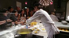Grand opening of #Arclinea #NewYork Flagship Showroom  #eataly #livecooking #cooking #food #wine #designfood #design