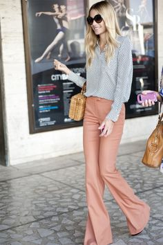 Bell bottoms and button ups - perfect for a weekend or workday http://www.epicee.com