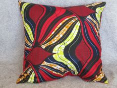 Cushion 6 - Open for more information and purchase details (www.prettyrooms.wordpress.com/products) #decor #home #cushion #decorating #interior Printed Cushions, Cushion Covers, Printing On Fabric, Wax, Wordpress, Vibrant, African, Colours, Throw Pillows