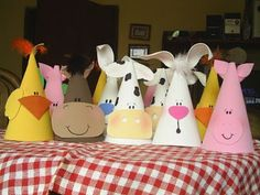 Farm Animal hats for kids- chick, horse, cow, rabbit, pig
