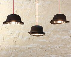 Bowler hat lights. Epic.