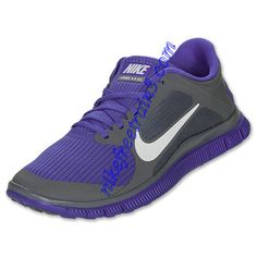 Nike Free 4.0 V3 Womens Cool Grey White Violet Force 580406 015
