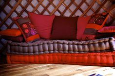 Soft comfy matrass in the Oriental Yurt of Casa Valle de Oro.