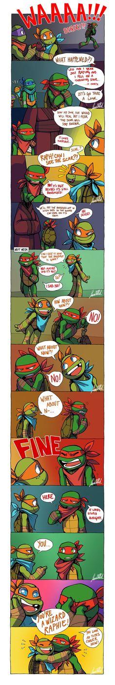 You're a Wizard Raphie by WinterHeath on DeviantArt<<< lil bby mikey Teenage Ninja Turtles, Ninja Turtles Art, Tmnt Comics, Cute Comics, Turtle Tots, Leo, Tmnt 2012, Dragon Rise, Fan Art